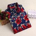 Cotton Blusas Long Sleeve Blouse Women Shirt Vetement Femme Tops Blouse Floral Printing Shirt Chemise Femme Women Blouses C2837