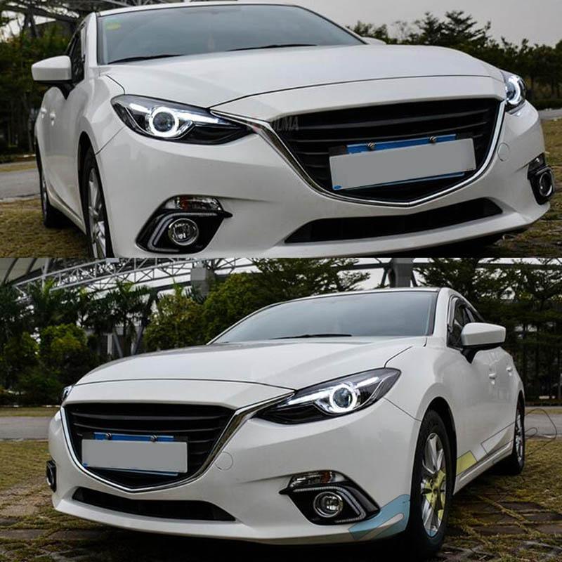 Hotsell HID Headlights For Mazda 3 Axela 2014 2015 2016 Front Bumper