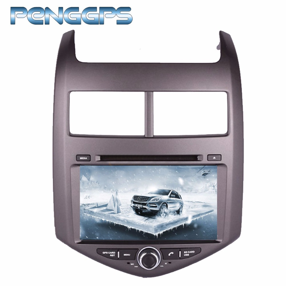 Octa Core lecteur CD DVD 2 Din stéréo Android 8.0 Autoradio pour Chevrolet Aveo/Sonic 2011-2016 GPS Navigation Autoradio Headunit