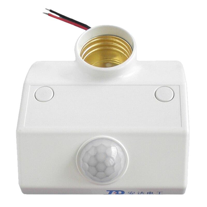 TD TAD-K218A E27 110V Infrared Motion PIR Sensor Automatic LED Light Lamp Holder Switch