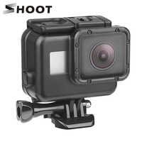 Водонепроницаемый чехол для экшн-камеры Gopro Hero 7 6 5, 45 м , черный , для подводной съемки, Go Pro 5, защитный чехол , крепление для GoPro, аксессуары