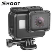 Shoot capa protetora de 45m para câmera, capa impermeável para câmera de ação gopro hero 7 6 5, capa preta subaquática montagem para acessório gopro