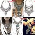 Muitos estilo de vendas quente mulheres vestido collar jóias bib choker maxi do vintage colares declaração de pingentes de metal por atacado