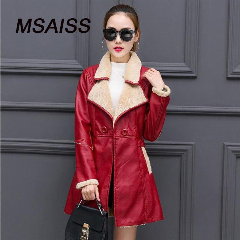 Coupe Royal Noir Pu rouge Manteau Qualité vent En bleu Haute De Veste Cuir Chaud Faux marron Longues Hiver Manches qUwIHgH