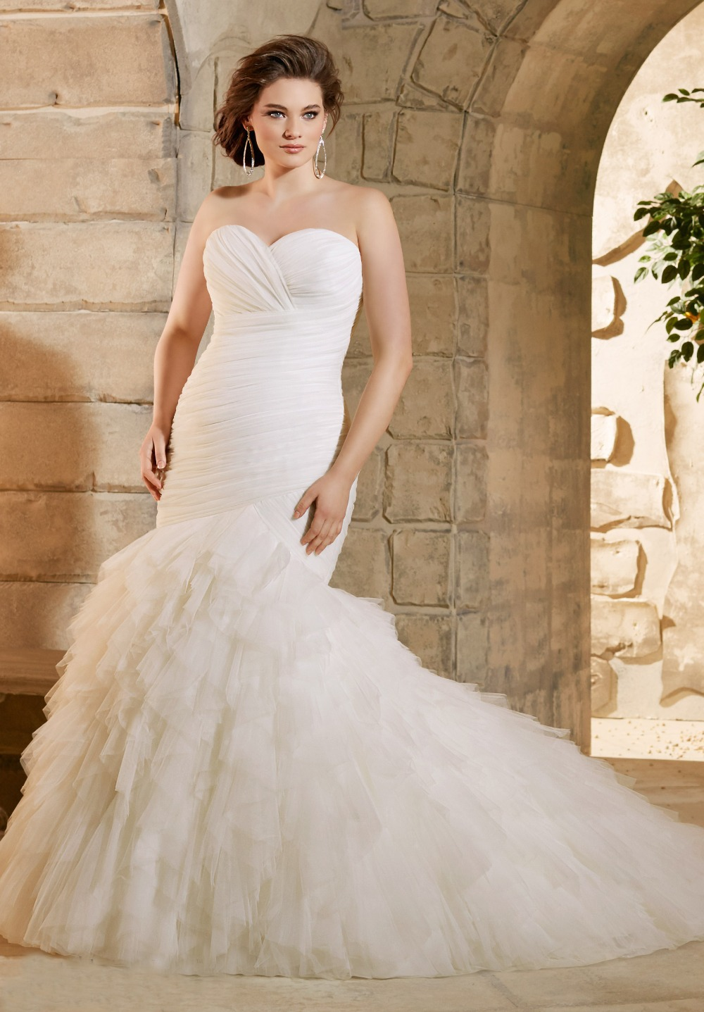 Popular Plus Size Wedding Dress Mermaid Style-Buy Cheap Plus Size ...