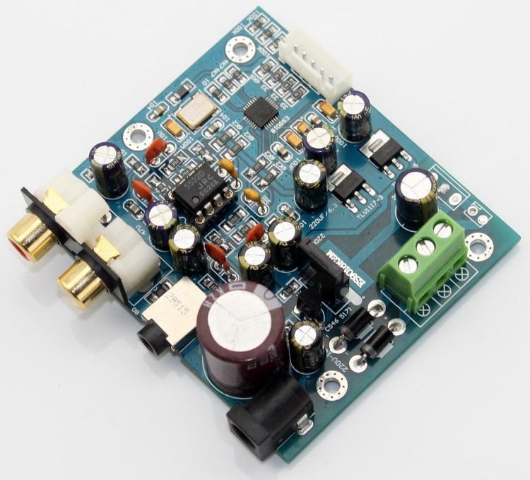 Собранные es9018k2m ЦАП es9018k2m I2S Вход декодирования аудио доска