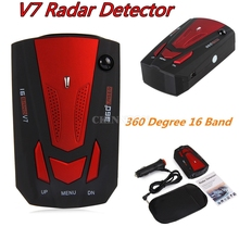 DHL 30 шт. голосового оповещения Лазерная хороший 360 градусов 16 Группа V7 GPS Скорость Антирадары(Цвет: красный