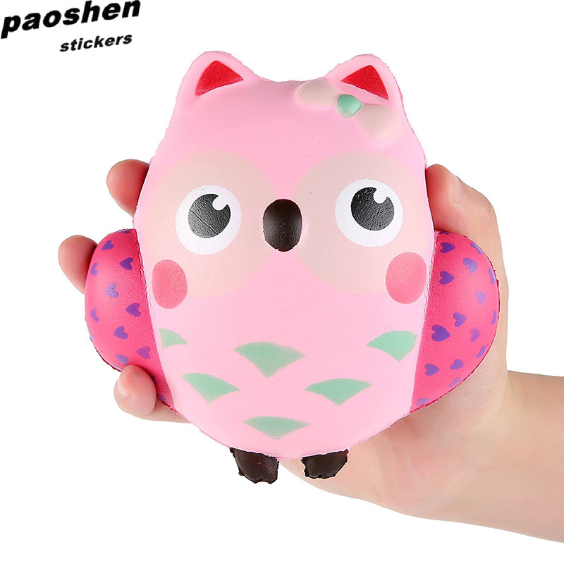 PU Squishy Fun Crazy Poo Funny Owl Animal Toys Soft Slow Rebound Childrens Toys For Boys and girls Decompression toys