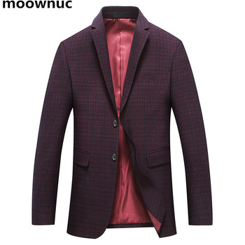 2018 Men's Blazers Business Casual Formal Slim Fit Blazer Suit Homme Costume Cotton Blazer Jacket Men Officers Coat Masculino