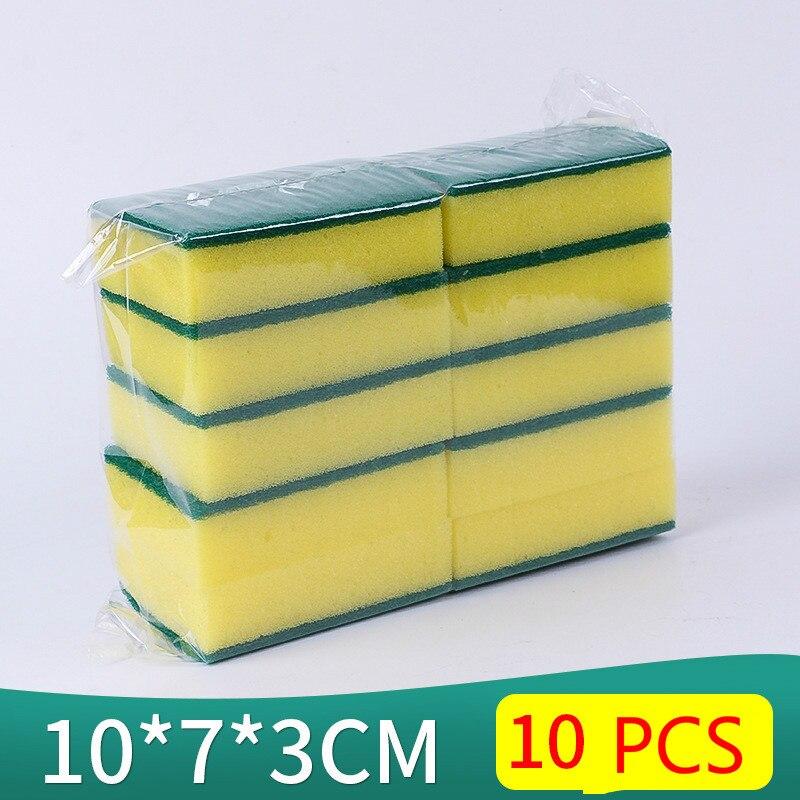 10 Unids de alta densidad esponja cocina esponja limpia frote baño - Bienes para el hogar - foto 3