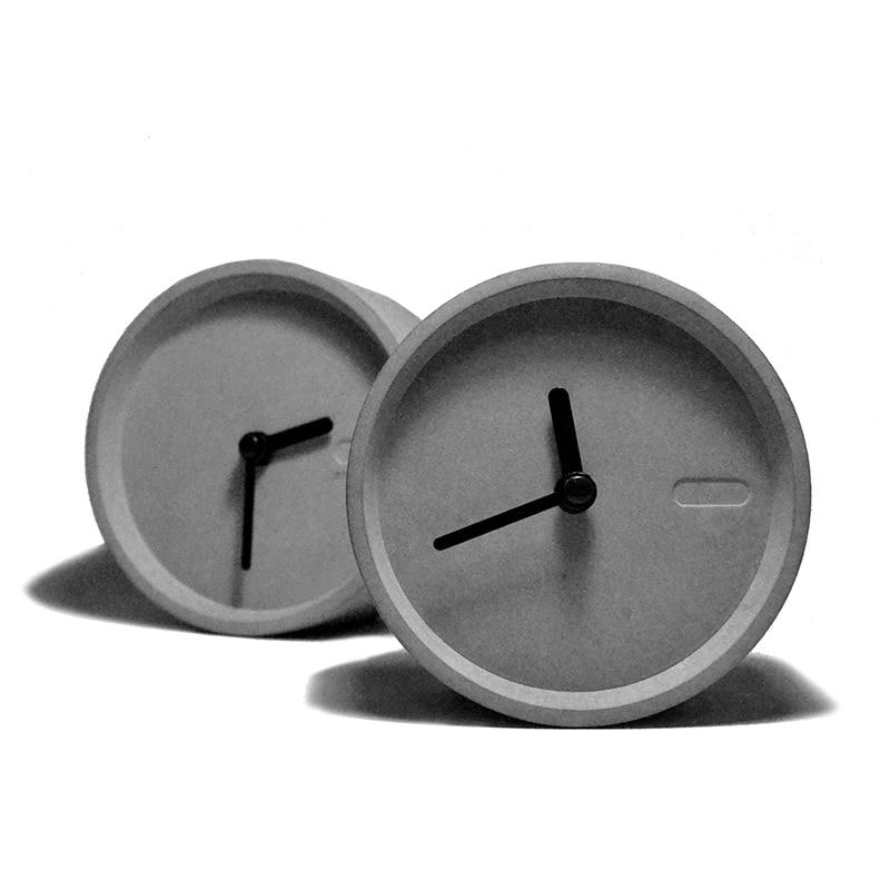 Creative Concrete Clock Silicone Mold Desktop Cement Clock Mould Silicone Concrete Mold For Home Furnishing