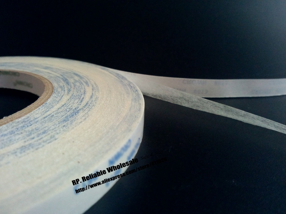 2Rolls (10mm*50M) Translucent Double Adhesive Non-woven Tape for LED Strip, Light, Arc Surface, LCD Screen Display Bond