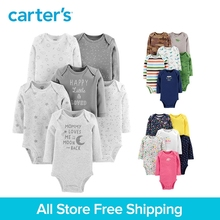 6pcs cute print cotton Long sleeves Bodysuits sets Carter's baby girl boy fall winter clothing 126H686/126H685/126H687