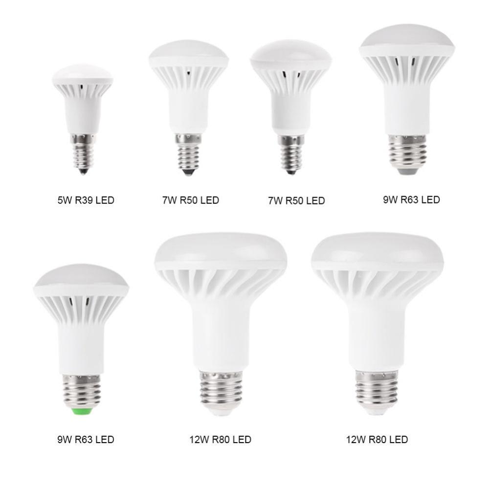 4 packs E14 Led Light Bulbs  5W 7W 9W 12W R39 R50 R63 R80 LED Globe Mushroom Bulb E27 Base Socket AC220V