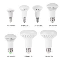 цена на 4 packs E14 Led Light Led Bulbs  5W 7W 9W 12W R39 R50 R63 R80 LED Globe Light Mushroom Bulb E14 E27 Base Socket AC220V