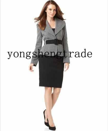 f0ac8a5e0f7 Women Suit New Arrival Women Suits Custom Made Suit Women Clothes Gray  Cashmere Jacket+Black