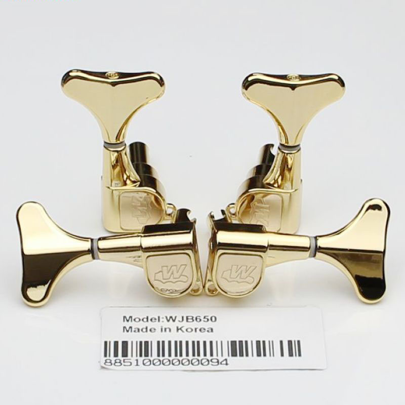 R2L2 Tuning Pegs Keys Tuners Machine Head Bass Guitar Tuner WJB-650 Gold Guitar Parts tooyful 6r locking button machine head tuning pegs tuners for electric guitar parts