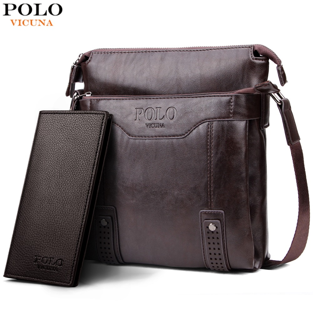 VICUNA POLO Vintage Unique Hollow Bottom Leather Man Bag With Rivet Soft Brand  Men Leather Messenger c1517efc74617