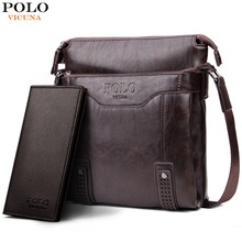 VICUNA POLO Vintage Unique Hollow Bottom Leather Man Bag With Rivet Soft Brand Men Leather Messenger Bag Fashion Shoulder Bags