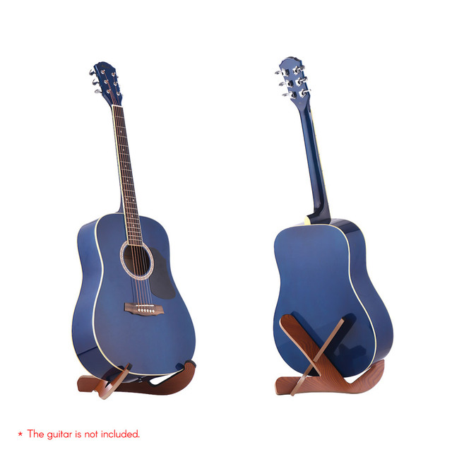 Floor Type Wooden Acoustic Guitar Stand Holder Musical Instrument ...