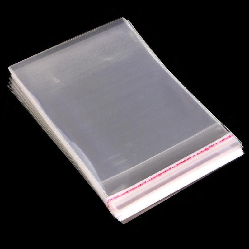 100Pcs/Set Transparent Plastic Bag OPP Self Adhesive Seal Poly Cellophane Bags Candy Package Gifts Bags & Pouches Self Adhesive