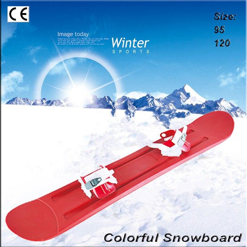 Enfants snowboard Double snowboard plastiques snowboard paille ski sandboard