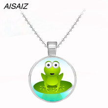 NEW Cute Kermit frog the Frog Necklace pendant key chain enamel high quality Best gift Children's Christmas gift(China)