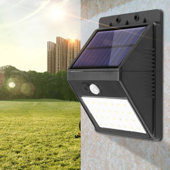 Detachable Solar 28 LED 3 Modes Motion Sensor Security Wall Light Garden Outdoor Lamp