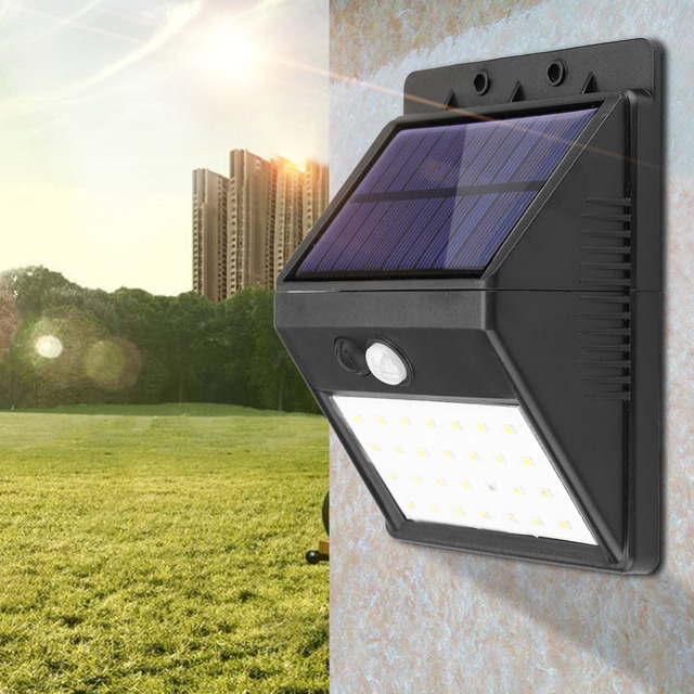 Detachable Solar 28 LED 3 Modes Motion Sensor Security Wall Light Garden Outdoor Lamp
