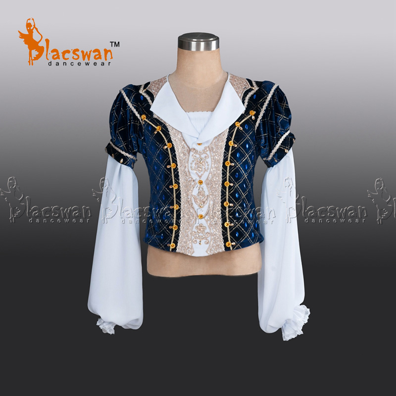 Professional Ballet Tunic Velvet Outwear Coat Chiffon Sleeves BT796 Prince Navy Ballet top Professional Ballet Jacket