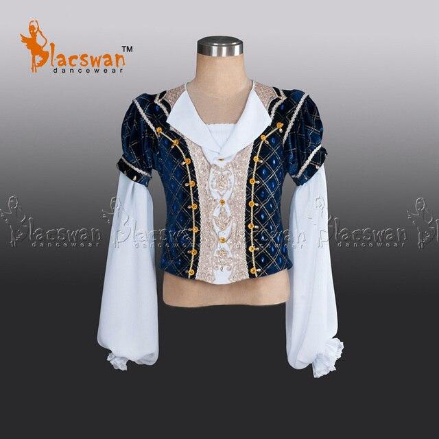 Professional Ballet Tunic Velvet Outwear Coat Chiffon Sleeves BT796 Prince Navy Ballet top Professional Ballet Jacket Costume