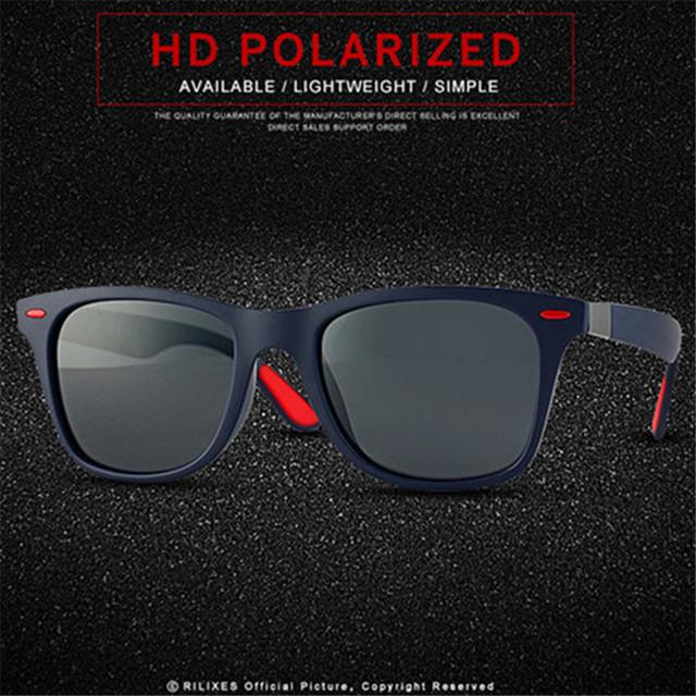 New Sunglasses Men Polarized Sunglasses Men Driving Mirrors Coating Points Black Frame Eyewear Male Sun Glasses UV400