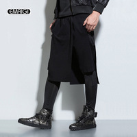 2016 New Board Men Shorts Men Fashion Punk Shorts Casual Skirts Short Pants Men Harem Pant