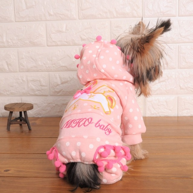 Kawaii Pet Shop Embroidery Unicorn Dog Jumpsuits Rompers Lace Pet Clothes Dog Sweaters Clothes for Dogs Clothes MK16B10