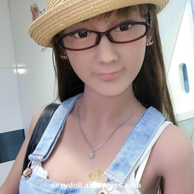 Nueva sexy verdadero muñecas del sexo verdadero sexy de silicona cabeza cara asiática tan piel 62 # para el 135 cm 145 cm 148 cm 153 cm 155 cm 156 cm 158 cm 161 cm 163 cm 165 cm c943b6