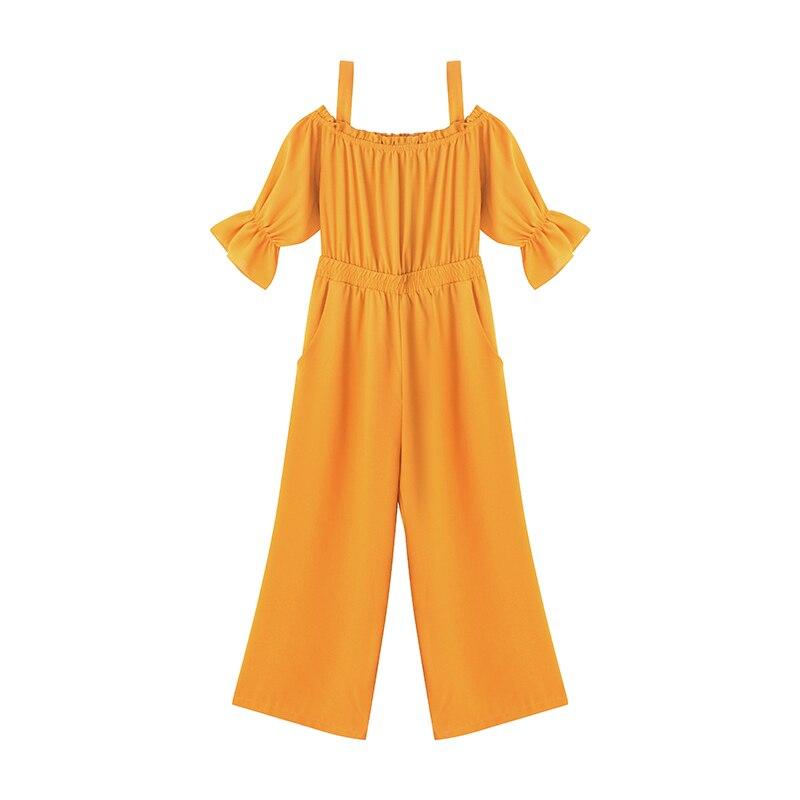 Women's Clothing 2019 Summer New Sexy Bohemian Style Spaghetti Strap Helf Sleeve High Waist Sling Long Beach Wide Leg Jumpsuit 5