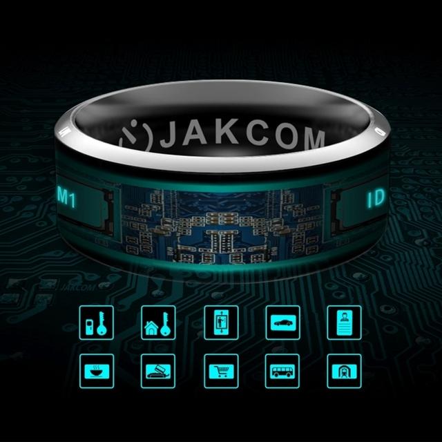 Anel nfc inteligente anel r3 jakcom programa de bloqueio à prova d' água eletrônica cnc wearable mini magia anel dos homens para o iphone samsung smartphone