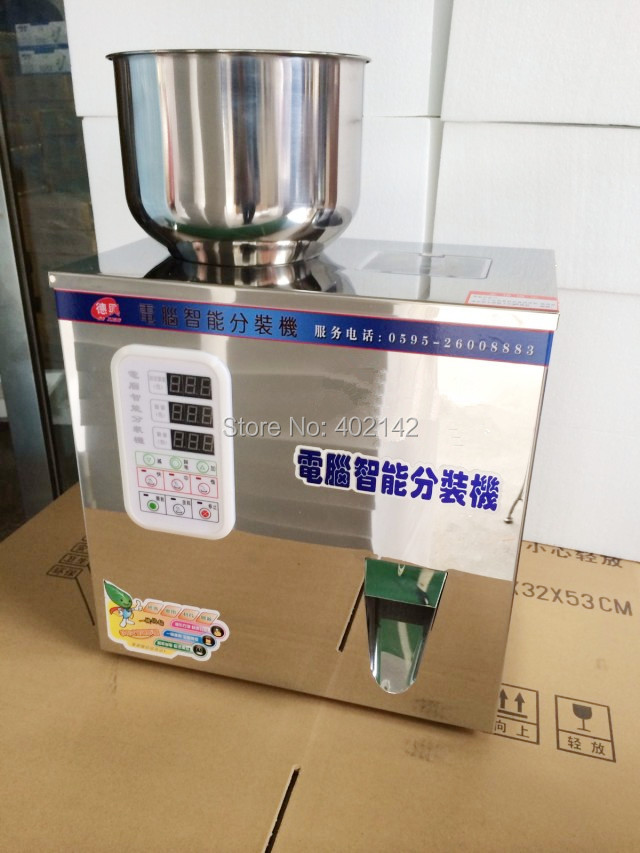 Free Shipping,2-100g Powder weighing machine and filling machine for herbs,bean,rice,coffee,tea  цены