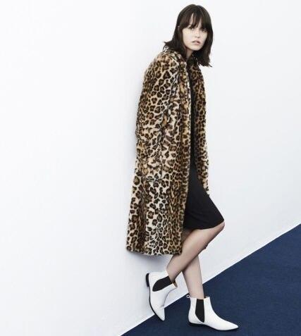 4489218712f 2015 autumn winter new street fashion long overcoat plus size faux leopard  print fur coat woman double pocket jacket XXL D4003 on Aliexpress.com