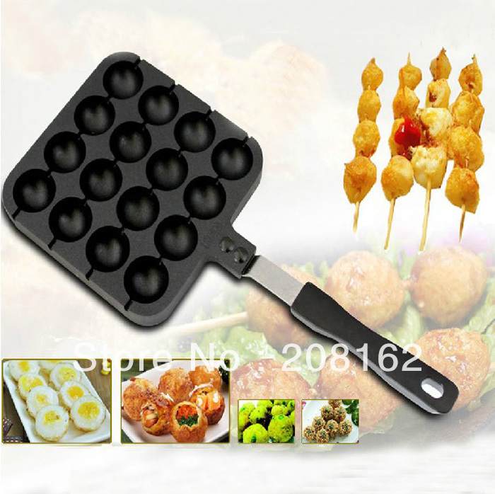 Octopus Pill Barbecue Frying Pan Quail eggs Bakeware Gas Boiler Snack Baking Dishes With Steel Sign