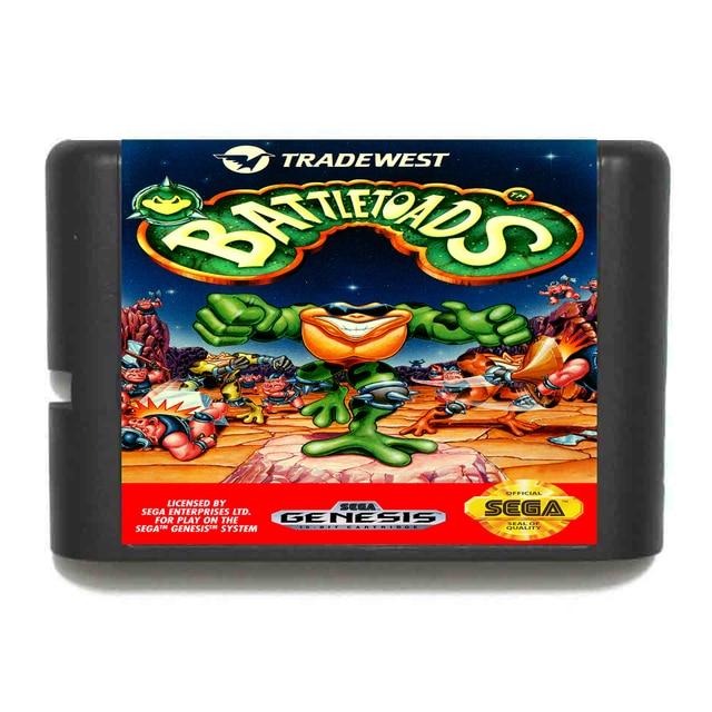 Battletoads 16 Bit Tarjeta De Juego Para Sega Mega Drive Y Sega