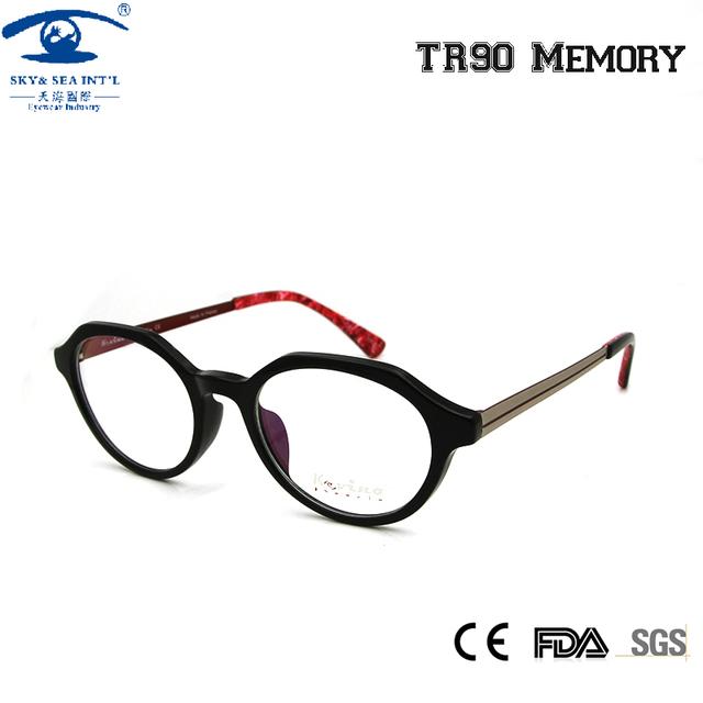 CIELO y MAR ÓPTICO Ronda Retro Gafas Marcos para Las Mujeres TR90 Miopía Vendimia Marco Óptico Lente oculos grau