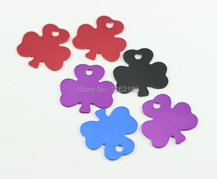 500pcslot   Dog Pet ID Tags Disc Dog tag or Cat tag Engraved flower shaped