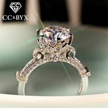 CC 925 Silver Vintage Rings For Women Charms Jewelry White Gold Color Bridal Wedding