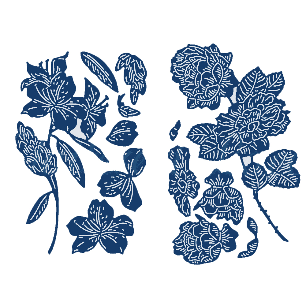 Rhododendron Flower Metal Cutting Dies DIY Crafts Card Album Making Stencil Scrapbooking Template Embossing New For 2019