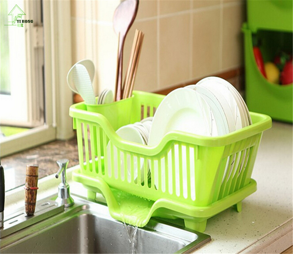 YI HONG 1PC 4 Colors creative dish racks kitchen utensils