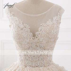 Image 5 - Fmogl Vestido De Noiva Sexy Backless A Line Wedding Dresses 2020 Appliques Lace Royal Train Tulle Bride Gowns Plus Size