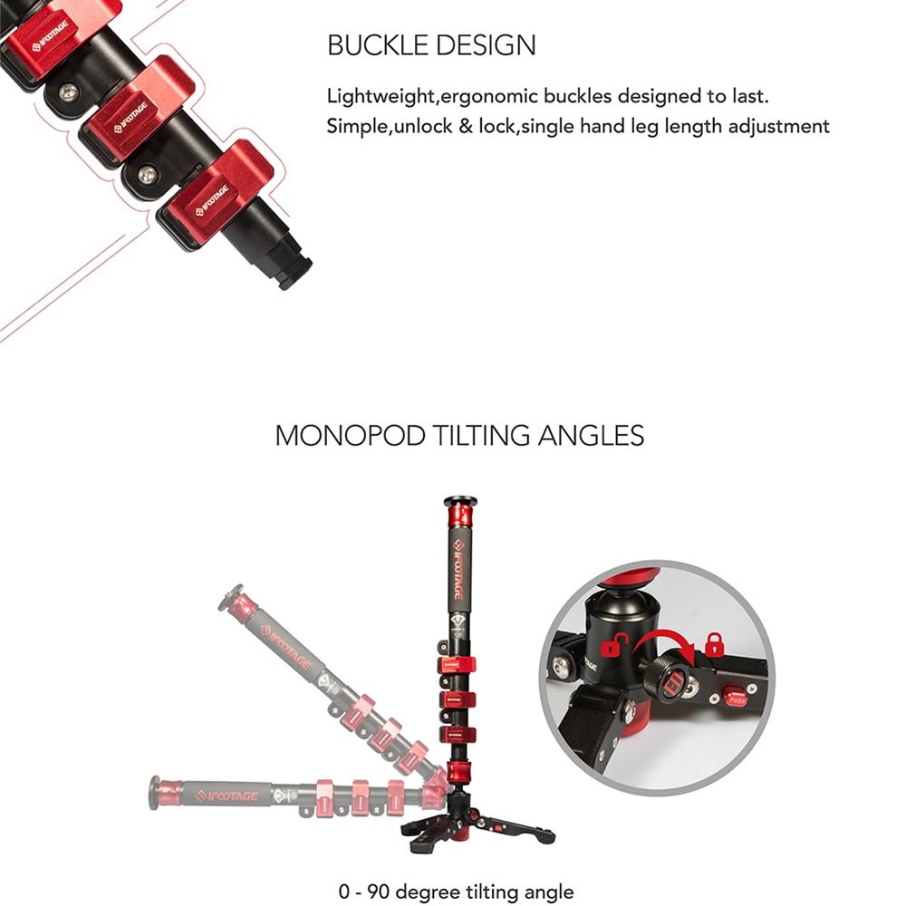 DIGITALFOTO iFootage COBRA 2 Portable professional Lightweight camera Monopod 120CM Carbon Fiber DSLR Video Monopod Tripod