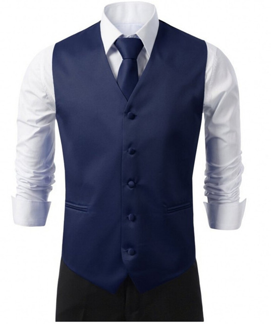 Formal Men's Waistcoat 2016 New Arrival Fashion Groom Tuxedos Wear Bridegroom Vests Casual Slim Vest Custom Made