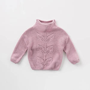 Image 3 - DB8972 dave bella autumn knitted sweater infant baby girls long sleeve pullover kids toddler tops children knitted sweater